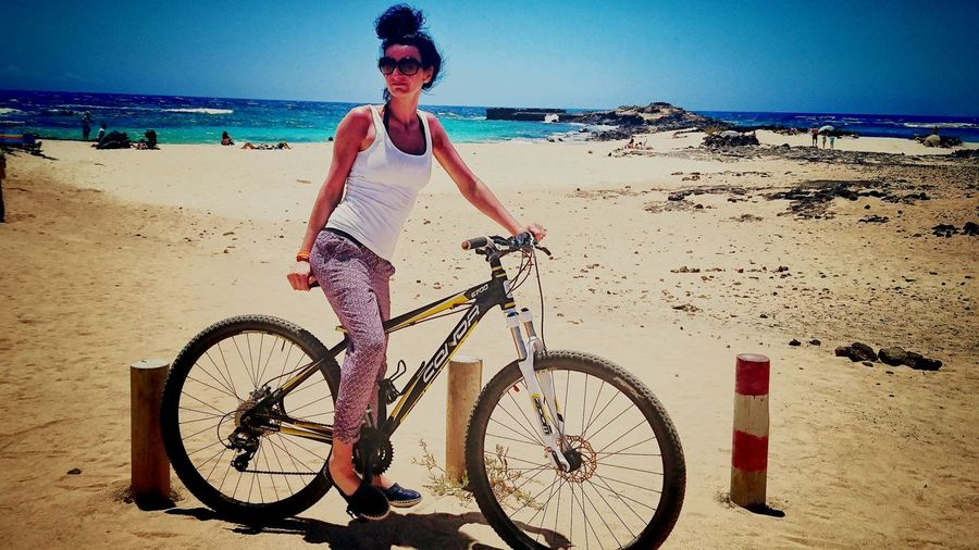 bike sport beach holiday Relaxing Sunshine