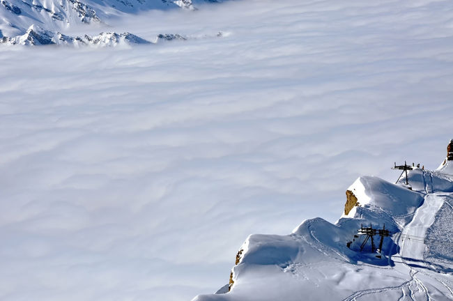 Snow covered winter mountain landscape. Ski resort in the Alps Altitude Austrian Alps Clouds Cold Temperature Day Dolomites, Italy Glacier Landscape Mountain Nature Outdoors Powder Snow Ski Ski Piste Ski Resort  Skiing Slope Snow Snowboard Snowcapped Mountain Snowy Sunny Vacation White Winter