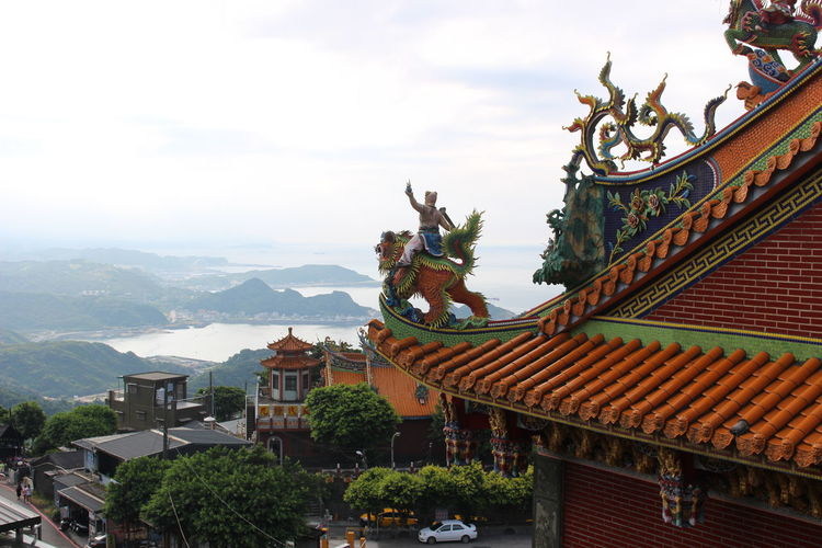 Jiufen mountains view Taiwan Taiwanese Taiwanese Culture Travel Animal Representation Architecture Belief Building Building Exterior Built Structure Cloud - Sky Clouds Day Jufen Landscape Nature Outdoors Religion Roof Roof Tile Sculpture Sky Spirituality First Eyeem Photo