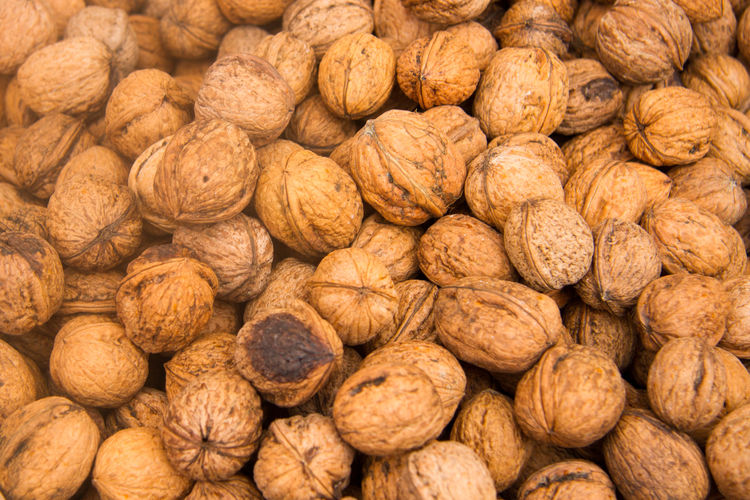 Walnuts Abundance Close-up Food Food And Drink Full Frame Large Group Of Objects Nut Walnut Walnuts Color Palette