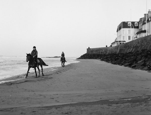 Sand Beach Riding Domestic Animals People Outdoors Two People Film Film Photography Film Is Not Dead Ilford Ilforddelta100 Bronica Bronicaetrs Manual Film120 France Horse Normandie First Eyeem Photo