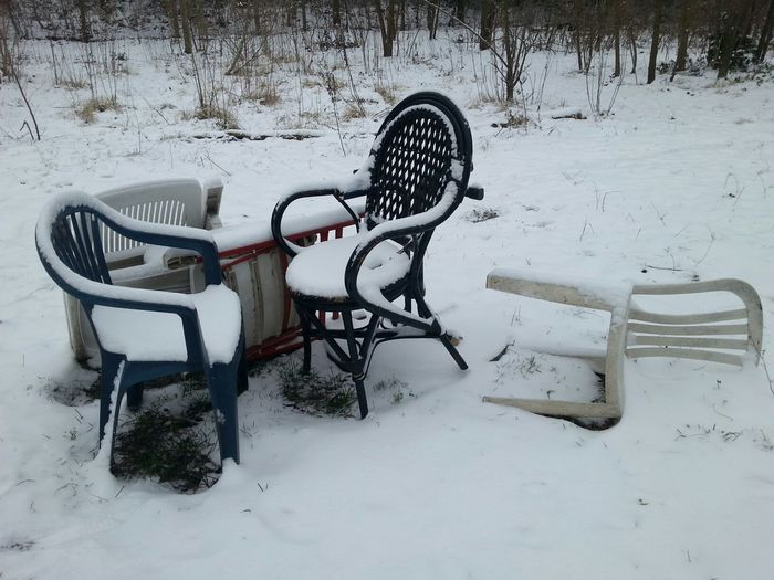 PhotoArt By Kitty Fischer Taking Photos Chairs_in_snow Walking Around Chairs And Tables Winter Time Cold Days Outdoors Photograpghy  Unterwegs Unterwegsunddraußen Outdoors Photograpghy  No People Object Photography