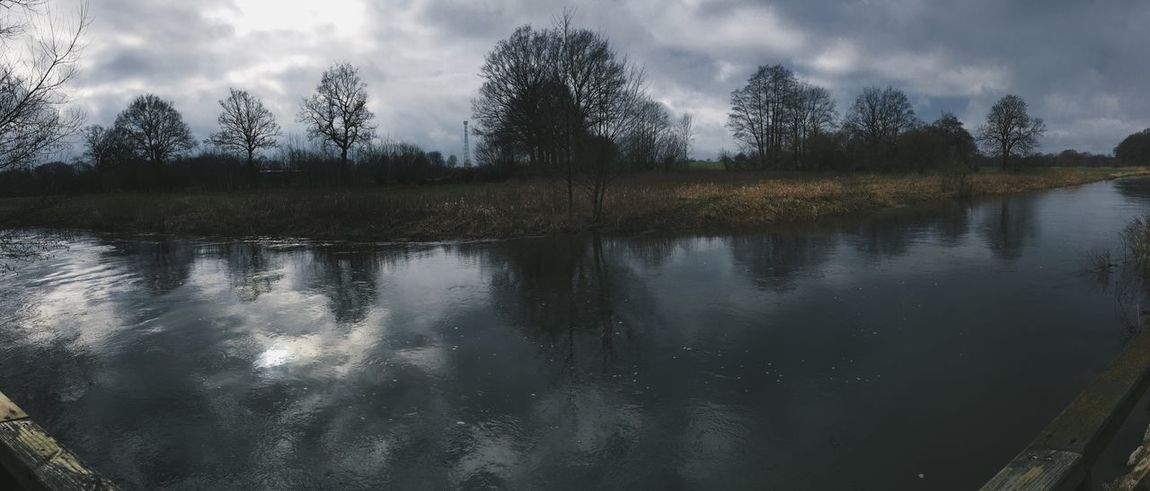 Water Bridge River Outside IPhoneography Panorama