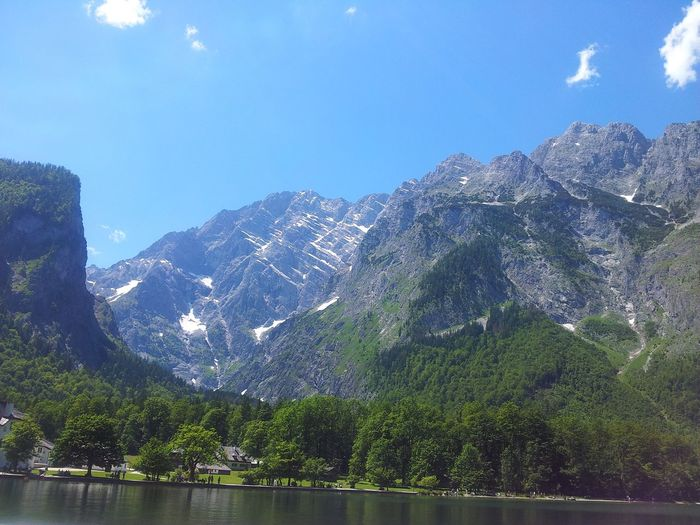 Captured with Samsung Galaxy S2. No Filters Or Effects SALZBURG Tour German Alps Mountain Water Tranquil Scene Scenics Lake Tranquility Beauty In Nature Tree Mountain Range Nature Blue Waterfront Non-urban Scene Sky Calm Majestic Outdoors Countryside Day Remote Nofilter
