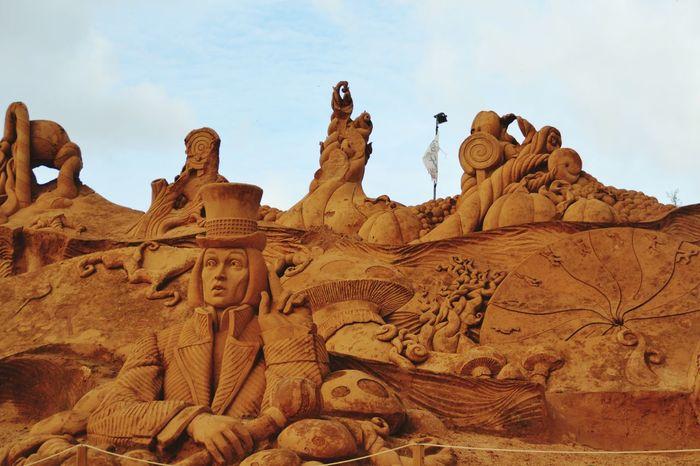 Sand Sculptures Sand Sand Sculpture Sand Sculpture Park Sculpture