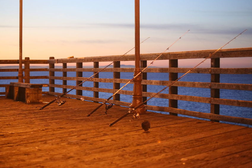 Day Early Morning Fishing Equipment Horizon Over Water Nature No People Outdoors Peace Of Mind Pier Sea Sky Tranquility Water Wooden Railing