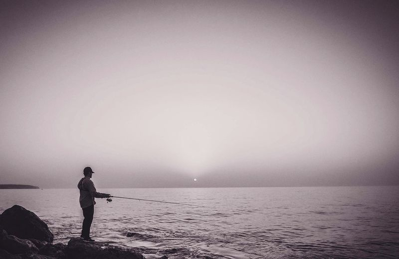 Barracuda Hunting Silhouette Beach Water Spirituality Fishing Time Lures Rapala Fishinglife Saltlife Saltlife_sunset EyeEmNewHere Black And White Friday