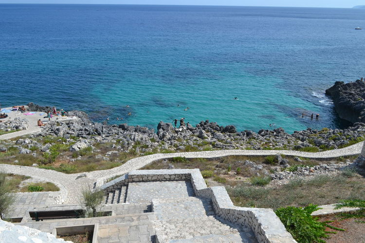 Lecce Mediterranean  Nature Architecture Beach Beauty In Nature Building Exterior Built Structure Day High Angle View Horizon Horizon Over Water Land Nature No People Outdoors Plant Salento Scenics Scenics - Nature Sea Sky Tranquil Scene Tranquility Water