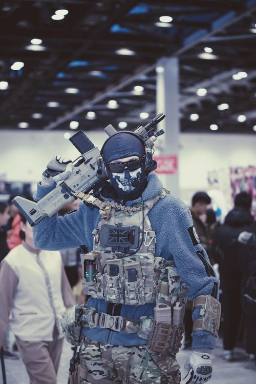 Task Force 141- Ghost Call Of Duty Ghost Real People Focus On Foreground Men Front View Leisure Activity Indoors  One Person People