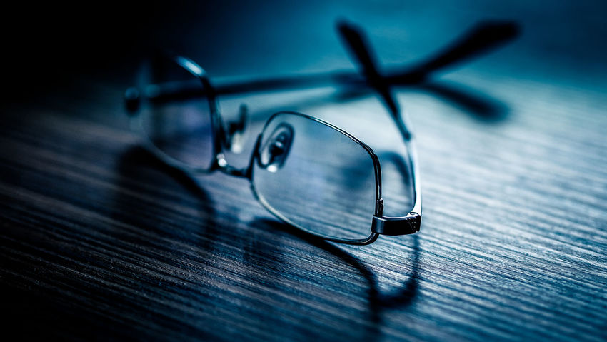192341d36c80 Blue Close-up Day Eyeglasses Eyewear Glass - Material Glasses High Angle  View Indoors Metal