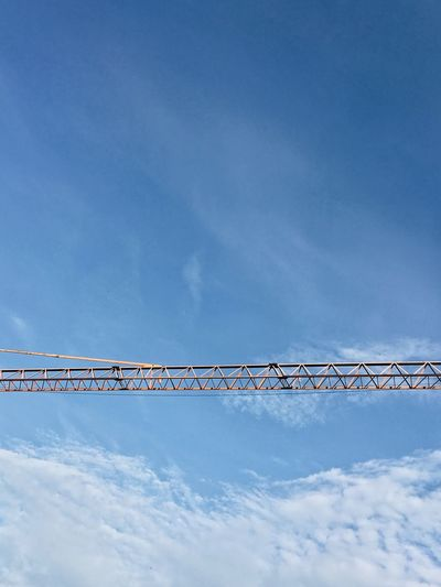 Crane Sky Cloud - Sky Low Angle View Blue No People Outdoors Day Built Structure Architecture Nature