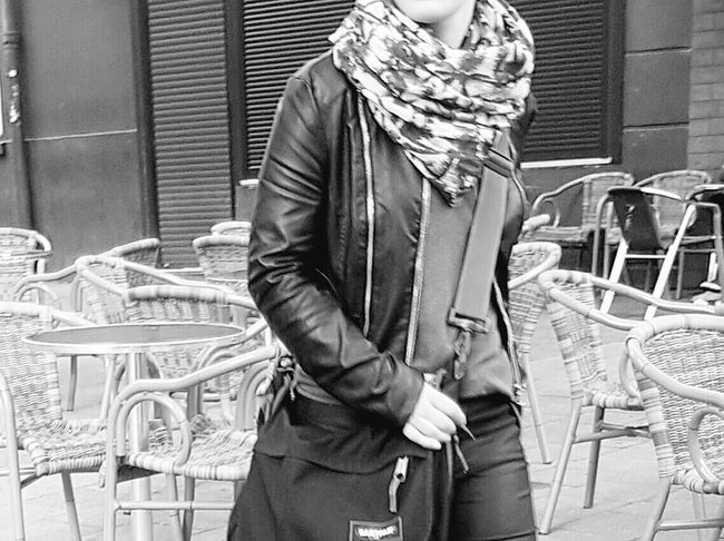 Portrait Of A Woman Portrait Photography Portrait Of A Girl Half Woman People On The Street People Portrait People Photography Street Life Street Photography City Street City Life My City Black And White Portrait Black And White Collection  Black And White Photography Woman Walking Headless Headless_collection End Of Summer Leather Jacket Monochrome Photography Galaxy S7 Edge
