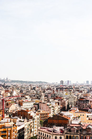 Barcelona cityvie Architecture Barcelona Barcelona, Spain Built Structure City City Rooftops  City View  Citylife Cityscape Day High Angle View Horizon Outdoors Roofs Sky