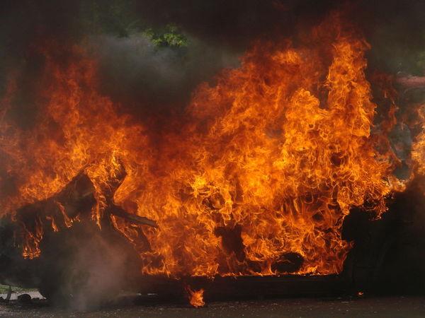 Burn Car Car Fire Fire Heat Smoke