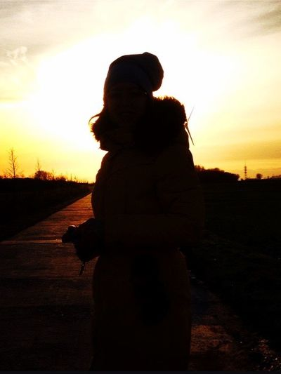 Enjoying time with my Sister Beautiful Sunset Nature Nature_collection Sky Clouds Shilouette