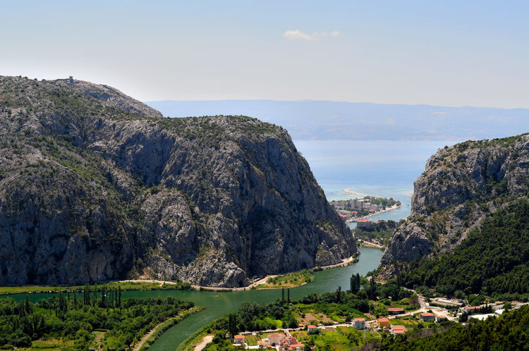 Cetina valley Blue Cliff Coastline Day Exploring Geology High Angle View Mountain Physical Geography River Cetina Rock Rock - Object Rock Formation Rocky Rough Scenics Sea Tranquil Scene Voyage Water
