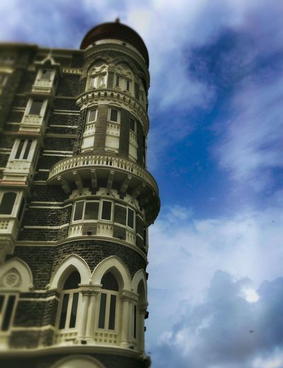 Low Angle View Architecture Built Structure Sky Building Exterior Cloud - Sky No People History IPhoneography Taj Hotel Mumbai Outdoors
