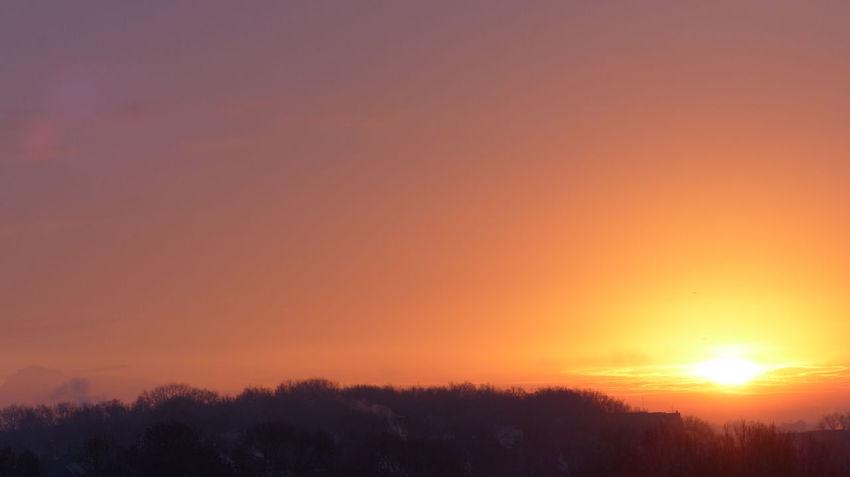 Sunset Orange Hello World Enjoying Life