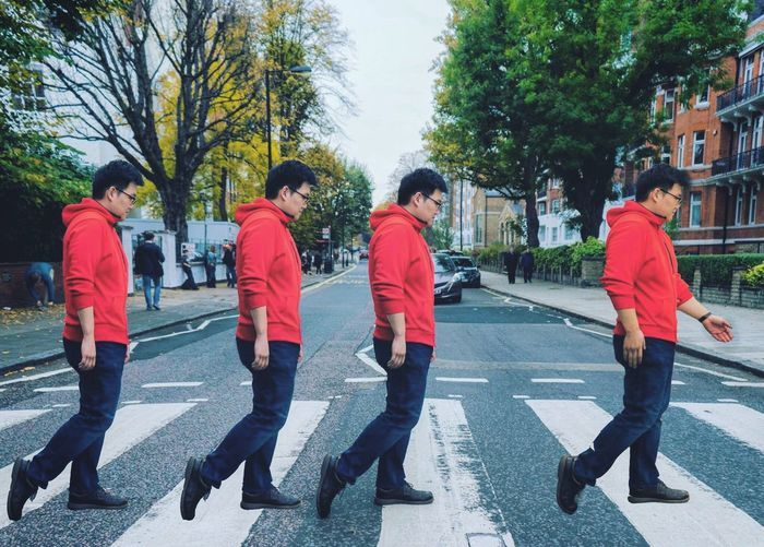 abbey road Men City Outdoors Tree Real People Day People Abbey Road The Beatles Beatles