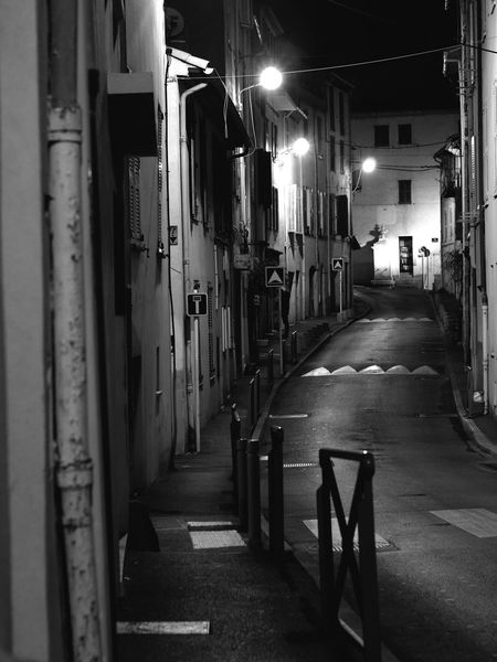 Night stroll Cityscape Street Light Absence Emptiness Old Town Antibes From My Point Of View Monochrome City Old Street