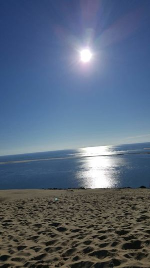 Sea Beach Horizon Over Water Water Sand Sun Nature Scenics Sky Beauty In Nature Tranquility Tranquil Scene Landscape Clear Sky Day Blue Sky And Water Paradise On Earth Perfect Sunny Day