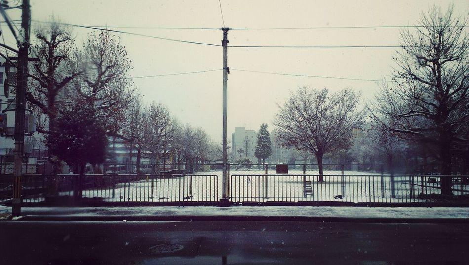 雪だ!嵐電 京福電鐵 Kyoto