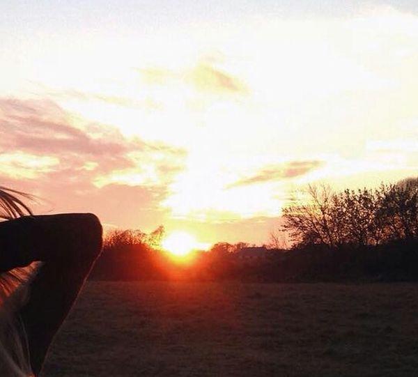 Первое фото,закат) Nature First Eyeem Photo
