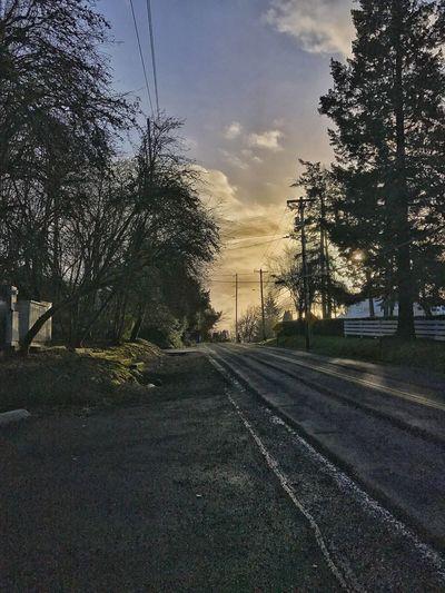 Nice little sunset at work today. The Way Forward Road Oregonlife Iphone7plusphoto No People Enjoying Life Taking Photos Oregonexplored
