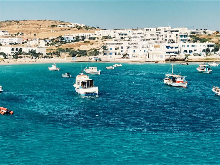Koufonisa Nautical Vessel Water Sea Day Architecture Transportation Mode Of Transport Waterfront Outdoors Built Structure Clear Sky No People Nature Building Exterior Beauty In Nature Sky Koufonisia Koufonissi Cyclades Greece