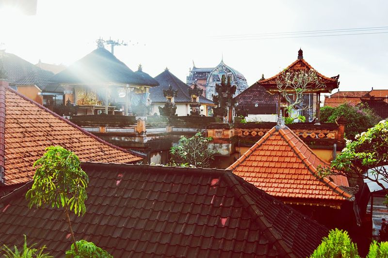 Roof Ubud, Bali Ubud Village Top View Top Of The House Top Of The World Architecture Built Structure House No People Outdoors Tiled Roof  INDONESIA Bali, Indonesia