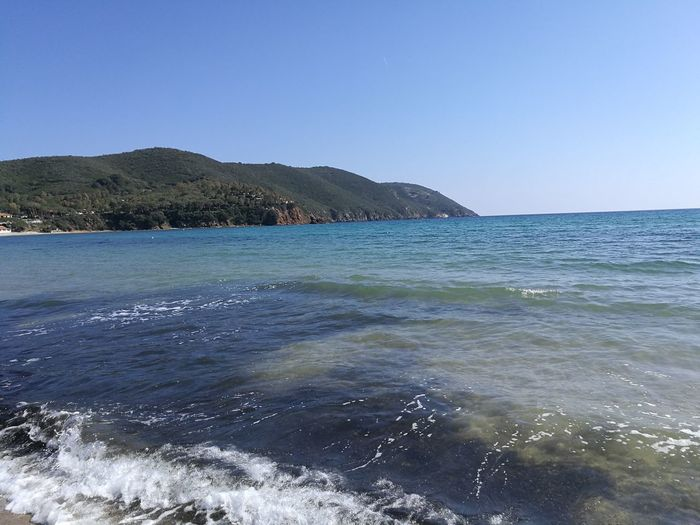 Sea Beach Water Sunny Clear Sky Outdoors No People Blue Day Nature Sky Scenics Beauty In Nature Wave Horizon Over Water Elba Island