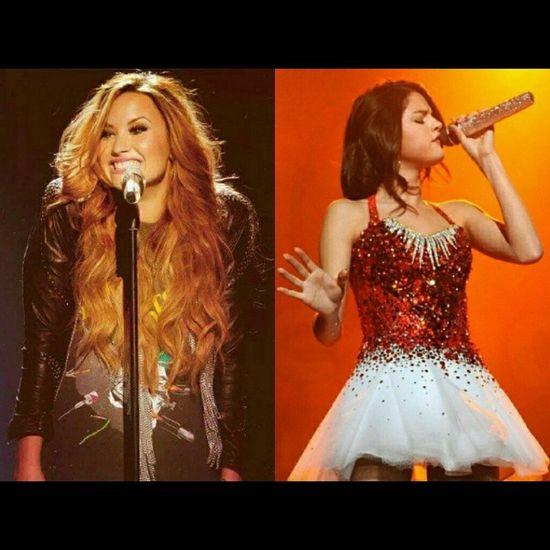 My favorite singers <3 Marchphotochallenge Day7 Favoritemusician DemiLovato Selenagomez Lovatic Selenator