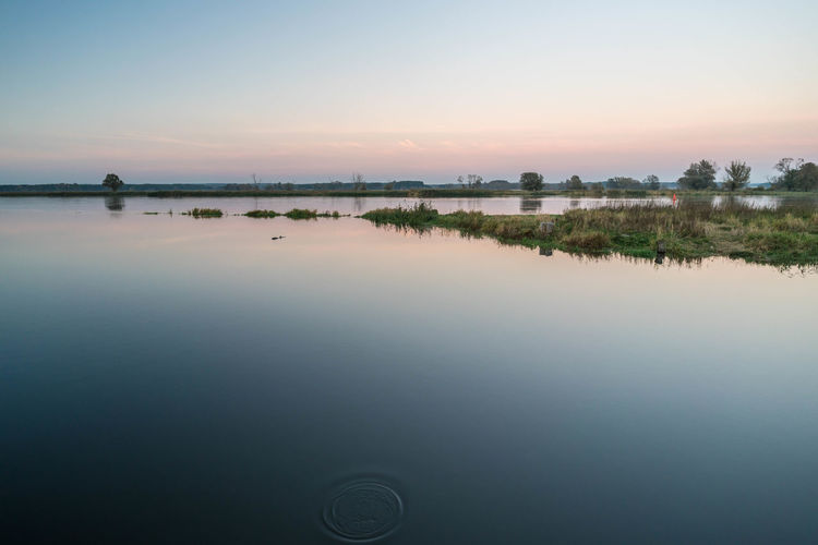 An der Oder Beauty In Nature Idyllic Nature No People Nobody Outdoors Sky Sunset Water