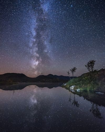 Loch Na H-achlaise, Scotland Scotland Night Milky Way Reflection Landscape Outdoors Space Nikon Nikonphotography Star Nightphotography Star - Space Night Sky Astronomy Milky Way Reflection Space Space And Astronomy Galaxy Nature No People Lake Science Scenics