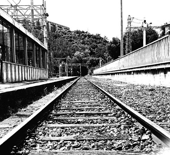 Train Train Station Blackandwhite B/w