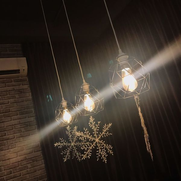 Illuminated Night Low Angle View Lighting Equipment No People Decoration Spider Web