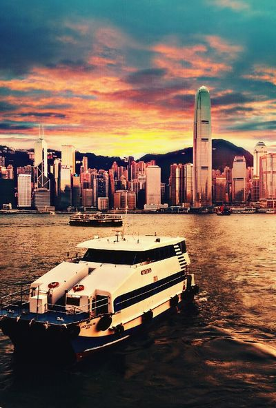 Victoria Bay, Hong Kong Check This Out Found On The Roll Tourist Attraction  Cityscape Oldphoto Twilight Scene