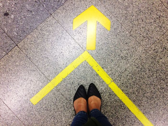 Concert Foot Yellow LINE Direction Standing Street Human Body Part One Person Low Section Day Real People Outdoors People