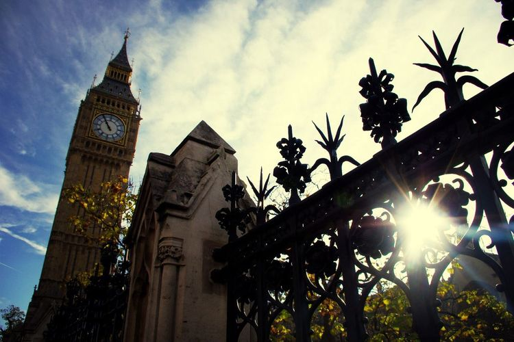 London Bigben Sun Sky