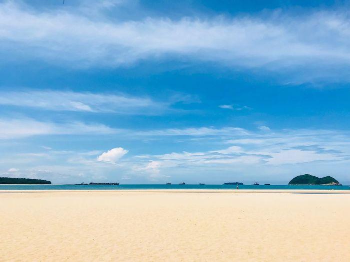 Beach Sand Sky Cloud - Sky Sea Beauty In Nature Nature