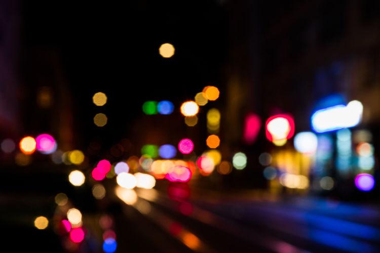 Berlin Blur Bokeh City Life Colorful Night Night Lights Street