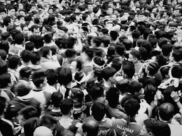 Good Friday 2018 Faith Monochrome Streetphotography Blackandwhite Urban Blackfriday Manila, Philippines Crowd Men High Angle View