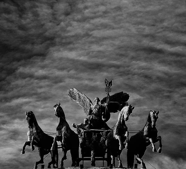 Justice Court Godess Victory Blackandwhite Clouds And Sky Jockey Horse Racing Only Men Outdoors Sky Togetherness Animal Themes