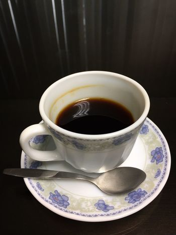 A cup of black coffee in chinaware on a mirrored wooden desk. Drink Food And Drink Refreshment Saucer Table No People Close-up Indoors  Freshness Plate Healthy Eating Day Ready-to-eat Meeting Idea Business Office Sugar Free Diet Healthy Black Coffee Detox Caffeine Refreshment Coffee - Drink