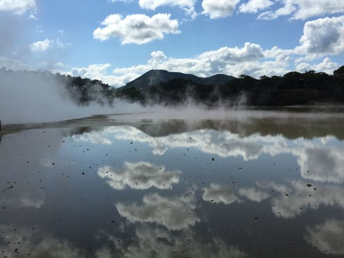 Steam Rising From Pool At Waiotapu Thermal Park
