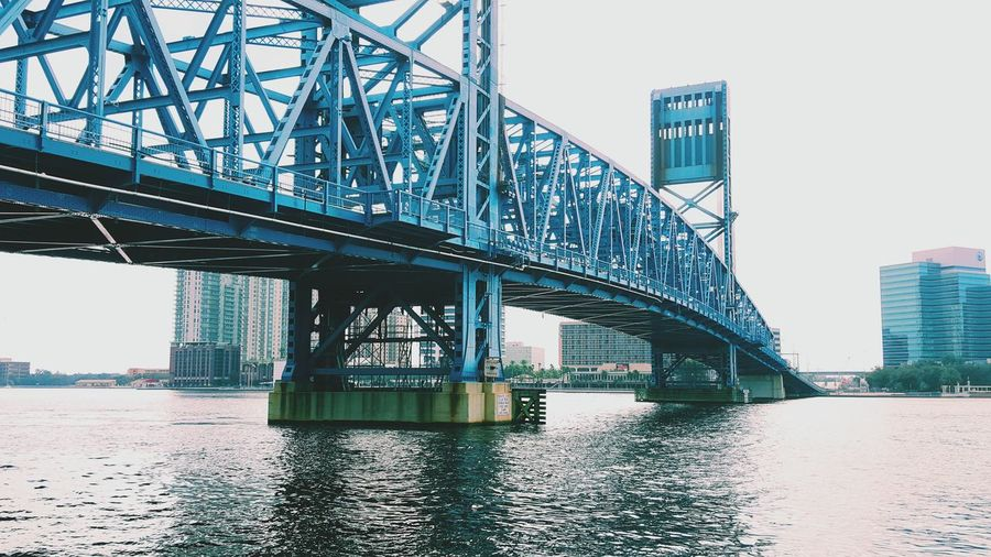 water under the bridge ▪ City Bridge - Man Made Structure Travel Architecture Sky Outdoors Water No People Day Bridge Jacksonville Florida Vscocam