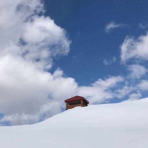 Hokkaido kitahiroshima_city kururu_no_mori 北広島市 牧場 Winter Snow Cold Temperature Weather Sky White Color Nature Outdoors Day Cloud - Sky Low Angle View Beauty In Nature No People Scenics Snowdrift