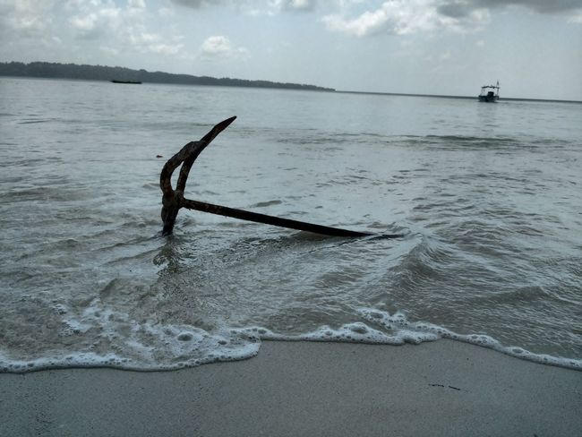 Andaman & Nicobar Islands Havelock Islands Anchor Sea Beach Water Nautical Vessel Outdoors Day No People Nature Horizon Over Water Sky Sunken UnderSea Water Waves Salt - Mineral Boat& Water Ocean Photography Sand Sky And Trees Cloud - Sky Eyemgallery EyeEm Best Shots No Edit, No Filter, Just Photography