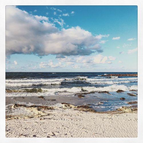 At the sea. 🌊