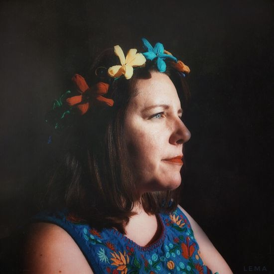 Fiesta portrait Flower Beautiful Woman One Person Beauty Multi Colored Headshot Real People Indoors  Lifestyles Day Fiesta Contemplation Adult Fun Party
